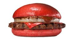 Burger King Japan Aka Samurai burger.  Bright-red Samurai hell-burgers on the menu for Burger King Burger King Japan is expanding its universe of surreal burger offerings with a tomato-red bun and red-cheese sandwich slathered in a spicy sauce.