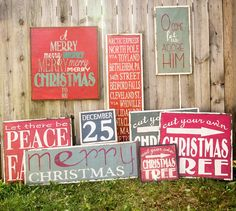 Little Red Porch Christmas signs