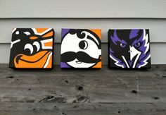 Baltimore Themed Paintings Baltimore Orioles Natty by Baltimore Maryland, Baltimore Orioles, Natty Boh, Orioles Baseball, Orioles Logo, Just In Case, Art Projects, Project Ideas, Craft Ideas