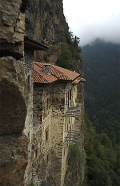 Sumela is 1600 year old ancient Orthodox monastery located at a 1200 meters height on the steep cliff at Macka region of Trabzon city in Turkey.