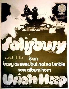URIAH HEEP - SALISBURY ON VERTIGO, POSTER-SIZE AD 1971