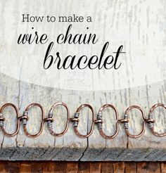 Wire link chain bracelet tutorial by Cindy Wimmer