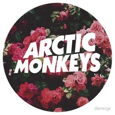 Arctic Monkeys floral logo by danerys. Monkey 3, Monkey T Shirt, Arctic Monkeys T Shirt, Indie, Alternative Rock, The Last Shadow Puppets, Floral Logo, Punk, Band Logos