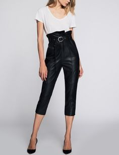 3a6f306436 Tailored Fit High Waisted Pure Lambskin Leather Pant for Women
