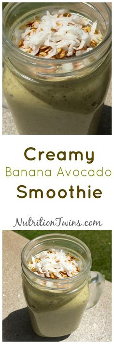 New Photos Creamy Banana Avocado Smoothie Avocado Smoothie, Smoothie Drinks, Healthy Smoothies, Healthy Drinks, Smoothie Recipes, Healthy Snacks, Smoothie Detox, Detox Drinks, Workout Smoothie