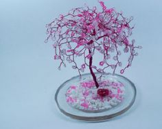 Cherry Blossom Art Sculpture Tree Custom Made to by wireforest