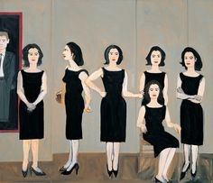 Alex Katz, The Black Dress (1960) Oil on Linen, 183 x 213 cm / 72 x 84 in.