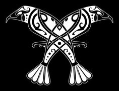 Huginn Muninn (Old Norse for Thought and Memory). Scholars have linked Odins relation to the ravens Huginn and Muninn to shamanic trance-state practice. Odin sends his mind on a journey through the symbolic birds. Norse Tattoo, Viking Tattoos, Wiccan Tattoos, Inca Tattoo, Doodles Zentangles, Hugin Munin Tattoo, Rabe Tattoo, Symbole Viking, Viking Culture