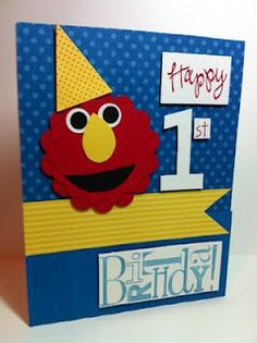 Happy 1st  bday, looks like cards from the stampin up card class I take