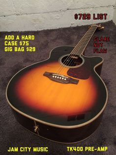 Takamine GN71CE-BSB Sunburst Acoustic Electric NEX Guitar - Solid Spruce Top #Takamine