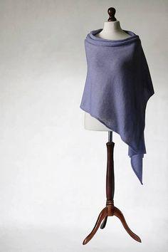 Lavender scarf silk scarf Bridal shawl wedding by KnitwearFactory