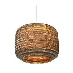 Ausi scraplight ceiling pendant light made from salvaged cardboard boxes. Great lighting for around the home and for lights in restaurants. Lamp, Drum Pendant, Ceiling Lights, Ceiling Pendant Lights, Pendant Lamp, Pendant Light, Light, Rustic Lamp Shades, Vintage Lamps