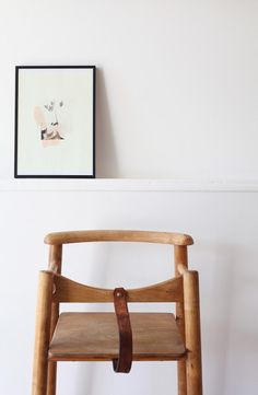 Wood Highchair With Leather Leg Strap   Jeremy Needs To Build