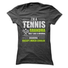 TENNIS GRANDMA T Shirts, Hoodies, Sweatshirts. CHECK PRICE ==► https://www.sunfrog.com/Fitness/TENNIS-GRANDMA-Ladies.html?41382