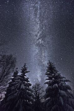 The Milky Way Winter Night Sky