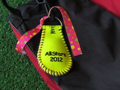 Hey, I found this really awesome Etsy listing at http://www.etsy.com/listing/105562601/bag-tag-softball