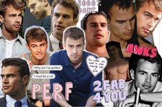 Theo James Collage  Future Husband Divergent Four