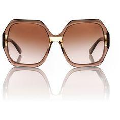 Tory Burch oversized mod sunglasses