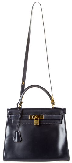 Hermes Navy Blue Kelly @FollowShopHers -- I want this one, too!