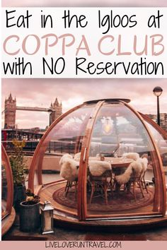 Want to eat in a Coppa Club igloo without a reservation? Find everything you need to know about the Coppa Club igloos overlooking Tower Bridge in London. Restaurants In Paris, Sketch London Restaurant, Restaurant Bar, Essen In London, Japan Travel, Thailand Travel, Bangkok Thailand, Hawaii Travel, Italy Travel