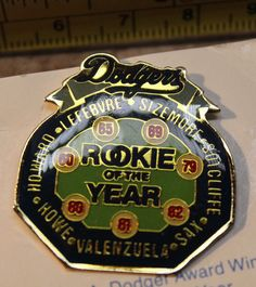 LA Dodgers 1988 6 of 6 Rookie of the Year Award Winners Unocal Collectible Pin #Unocal #LosAngelesDodgers