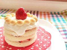 一歳 食パンで簡単お誕生日ケーキ♡の画像