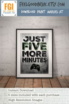 XBOX Controller Print Just Five More Minutes by FeelGoodIncUK