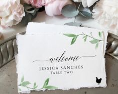 Greenery Place Card Template, Editable Wedding Place Cards, Instant Download, 100% editable Printable Escort Cards, Folded Flat Place Cards Place Card Template, Web Technology, Wedding Place Cards, Table Cards, Web Browser, As You Like, Greenery, Place Card Holders, Printables