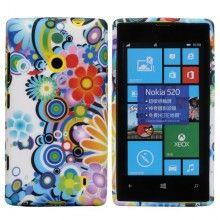 Capa Nokia Lumia 520 - TPU - Flower 2  R$18,25
