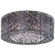 View the ET2 E21301-10BZ Inca 9-Bulb Flush Mount Indoor Ceiling Fixture - Metal Shade Included at LightingDirect.com.