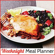 Weeknight Meal Planner: Drag and drop 5 healthy dishes to create your weeknight menu plan. Then, easily print all (or some) of the recipes at once. | CookingLight.com