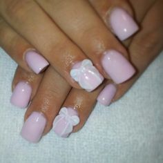 Bow nails...love the color!