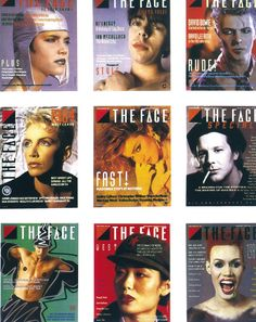 """1980's """"The Face"""" Magazine Designs by Neville Brody"""