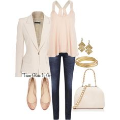 """""""Casual Peach"""" by teamglamitup on Polyvore"""