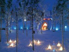 La maison du père Noël en Laponie