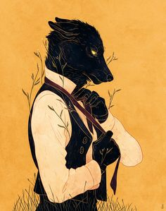 Lord Among Wolves II - Print · Dappermouth · Online Store Powered by Storenvy Arte Legal, Werewolves, Anime Suit, Furry Wolf, Furry Art, Wolves Art, Wolf World, Wolf Illustration, Werewolf Art