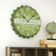 Lemonade Bottle Top Clock / Graham & Green