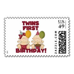 Cute Little Baby Stamps FREE P/&P 18 Stamps NEW Twins New Baby Birthday