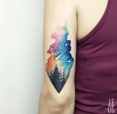 Tattoo ideas forest tattoos, nature tattoos, life tattoos, world map tattoo Tattoo Motive, Arm Tattoo, Sleeve Tattoos, Galaxy Tattoo Sleeve, Tattoo Ink, Star Tattoos, Body Art Tattoos, Tatoos, Paisley Tattoos
