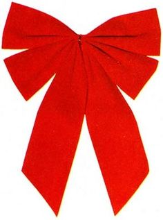 Christmas Medium Red Bow,