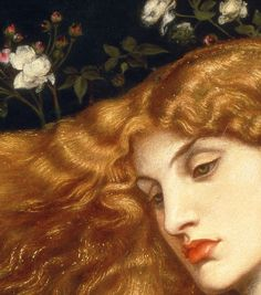 Dante Gabriel Rossetti, Lady Lilith (details)  1866-68