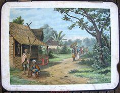 oude schoolplaten, indie, bali, indonesia,missie