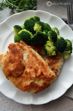Milanesas de pollo empanizadas sin gluten www.pizcadesabor.com