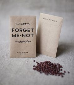 Forget-me-not Seed Packets- I can make these with my Cricut. Perfect for…
