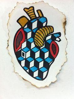 """""""corazón bizarro"""" by El Mitote Tattoos"""