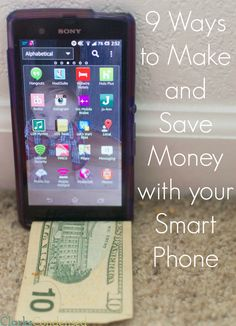 9 Apps To Save and Make Money with Your Smartphone Money Making Ideas Ways To Save Money, Money Saving Tips, How To Make Money, Money Tips, Money Hacks, Make Money From Home, Make Money Online, Money Today, Apps