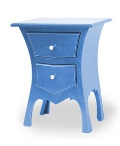 Bedside Table in Indigo Stain by Dust Furniture*