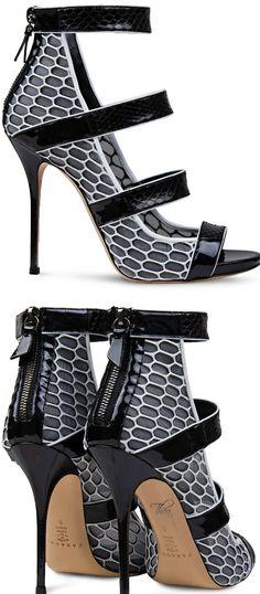 Casadei ● Graphic Snakeskin Sandal