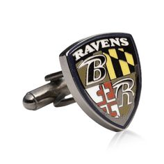 BALTIMORE RAVENS CUFFLINKS by Cufflinksman  #Cufflinks #Fashion #Jewelry #shopping