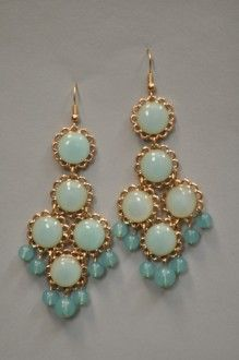 Opaque Flower Chandelier Earrings - Southern Flair Boutique